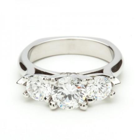 Three Stone Round Brilliant Ring
